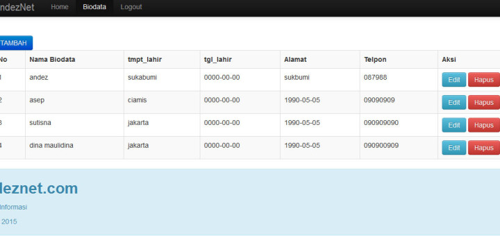 إنشاء CRUD باستخدام مفهوم OOP في PHP مع طرق عرض Bootstrap