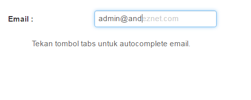 autocomplete email